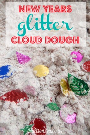 Glitter Cloud Dough from Crafts On The Sea