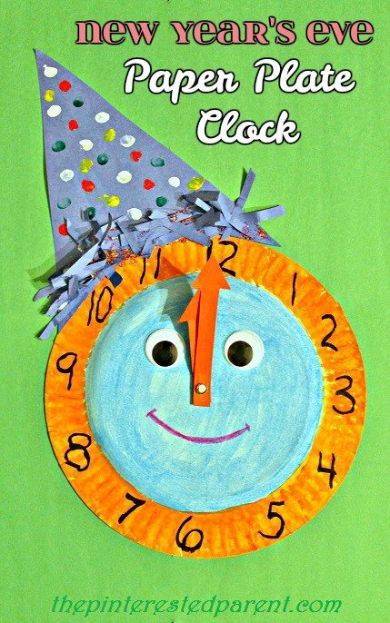 New Year S Eve Paper Plate Celebration Clock The