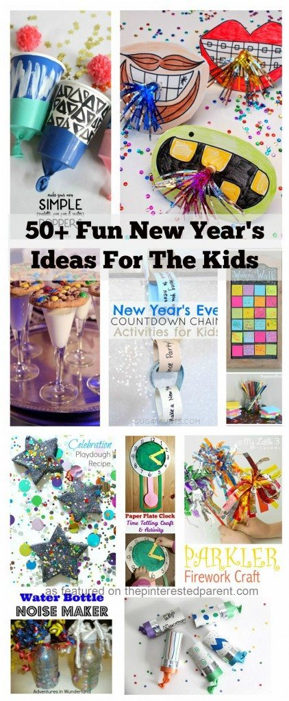 Over 50 ideas for New Year's Eve crafts, activities, recipes, traditions and more for kids