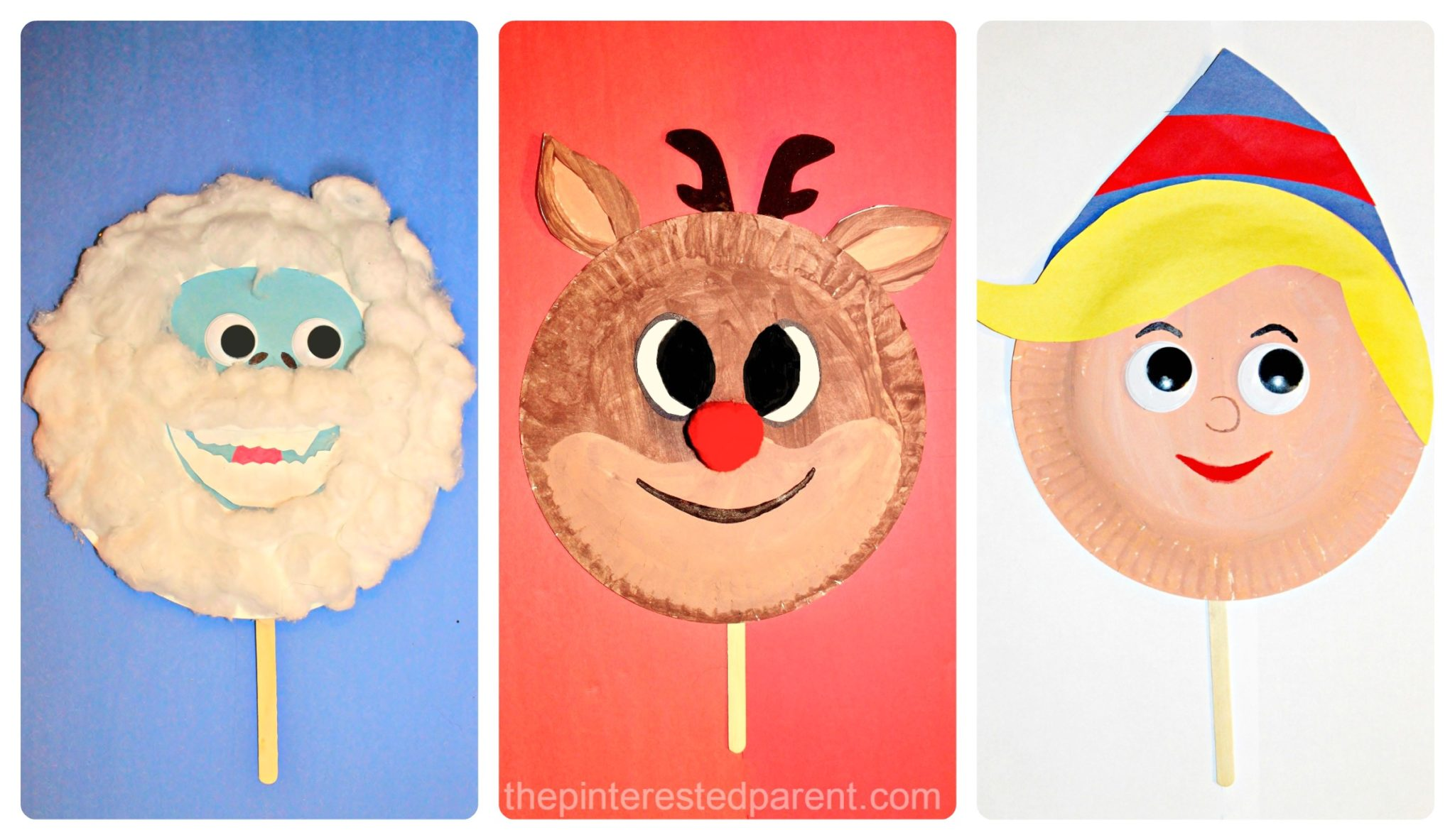 Paper Plate Rudolph Friends Inspired Masks The