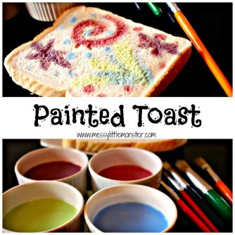 Painted Firework Toast from Messy Little Monster