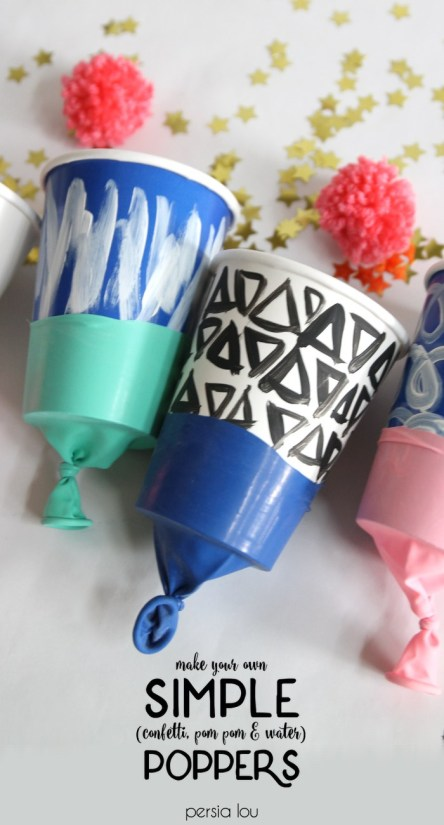 DIY Confetti Poppers from Persia Lou