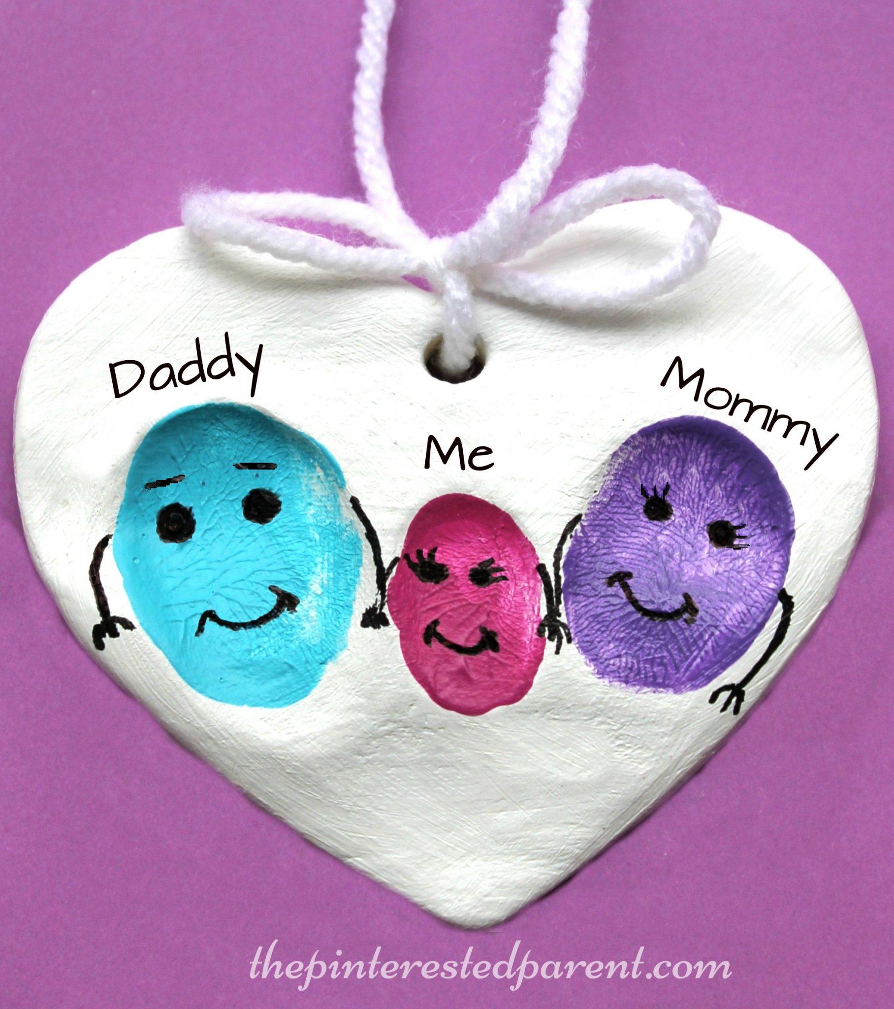 Clay Fingerprint Keepsake Ornaments The Pinterested Parent