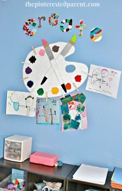 Kid's Play & Art Room Display Wall