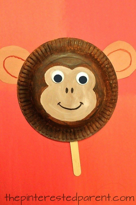Year Of The Monkey Paper Plate Craft - The Pinterested Parent
