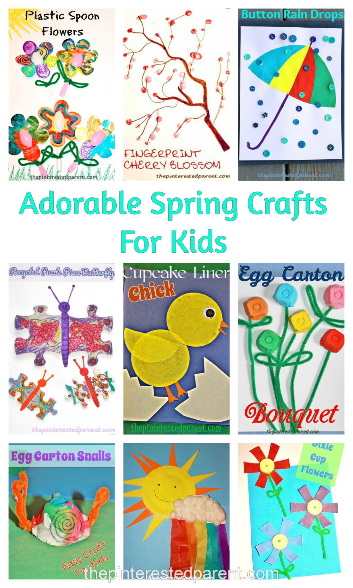 Cute Amp Simple Spring Crafts For Kids The Pinterested Parent
