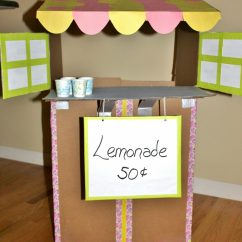 Living Room Toy Box New Set Cardboard Lemonade Stand – The Pinterested Parent