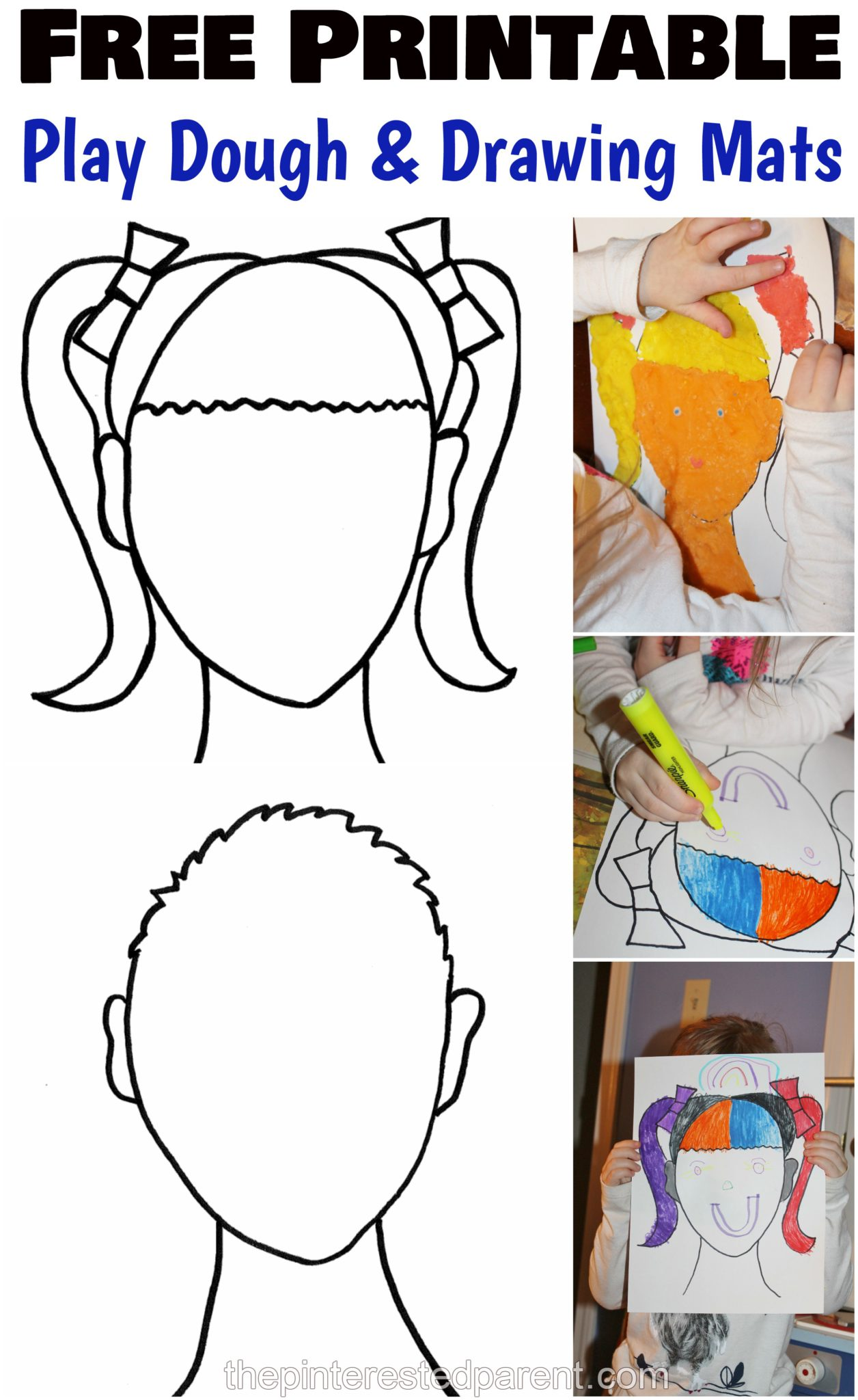 Printable Face Play Dough Mats The Pinterested Parent
