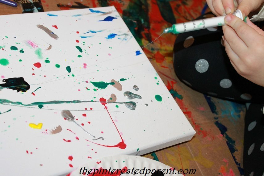 Jackson Pollock Inspired Canvas Art The Pinterested Parent