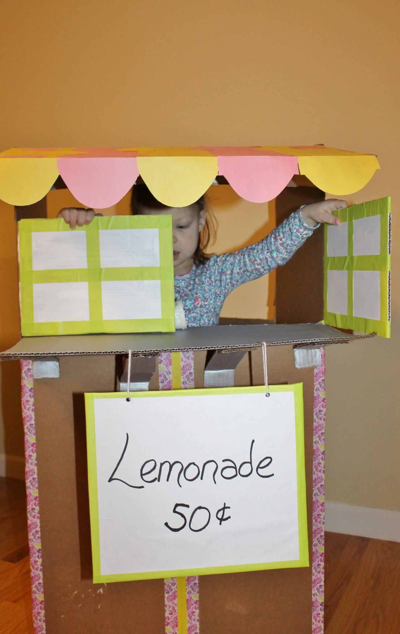 Cardboard Lemonade Stand The Pinterested Parent