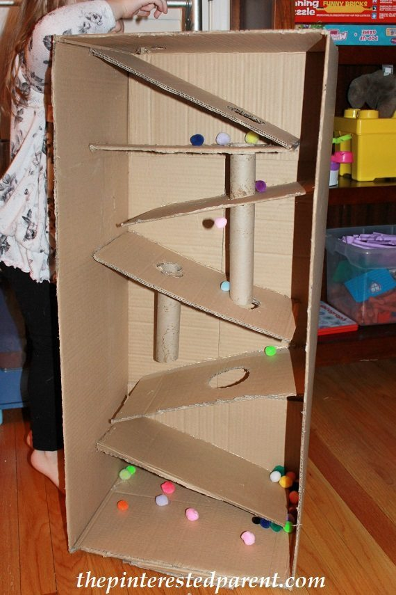 Cardboard Box Marble Run  The Pinterested Parent