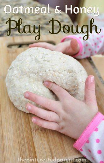 Oatmeal & Honey Play Dough - add a little texture to play.