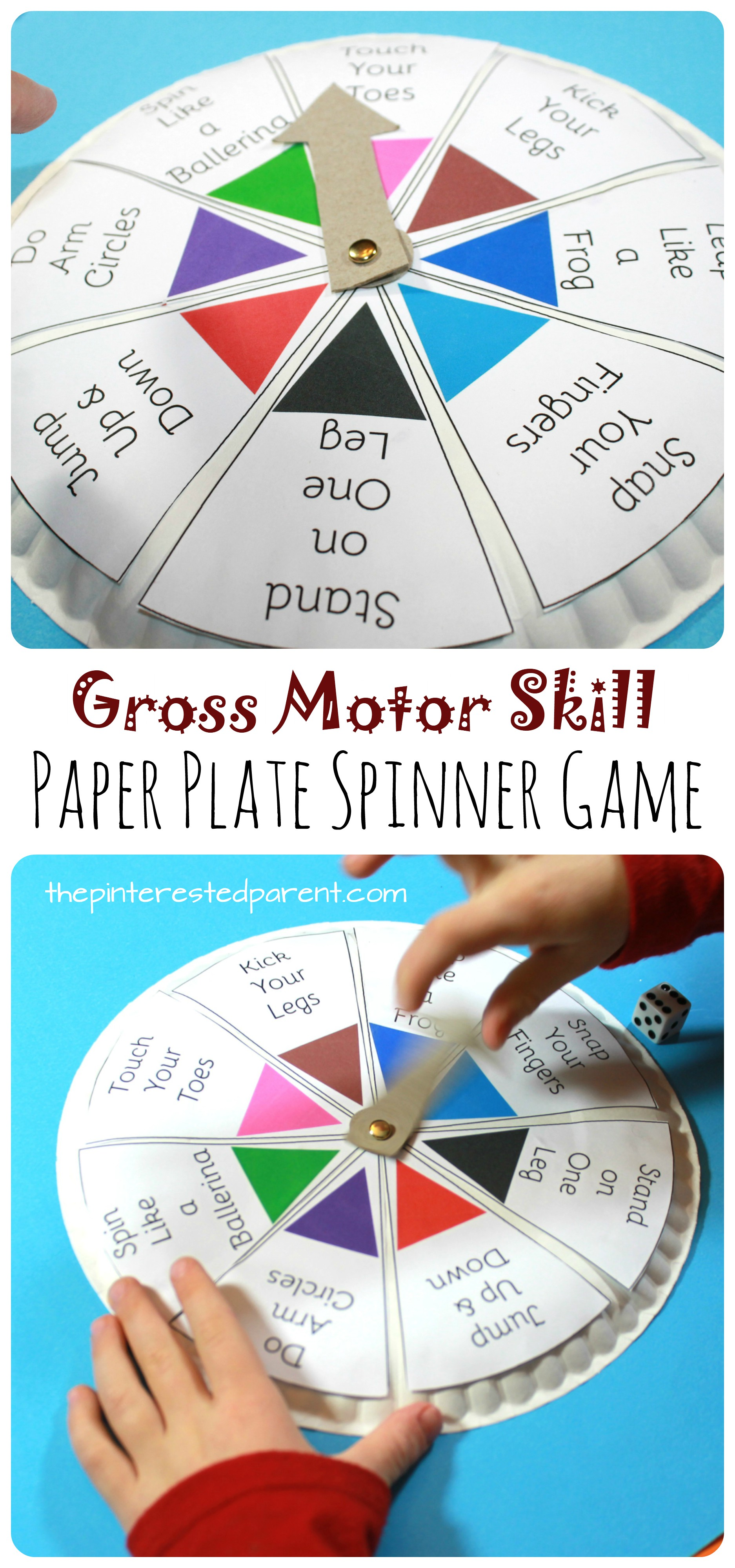 Spin Roll Count Gross Motor Skill Game The Pinterested Parent
