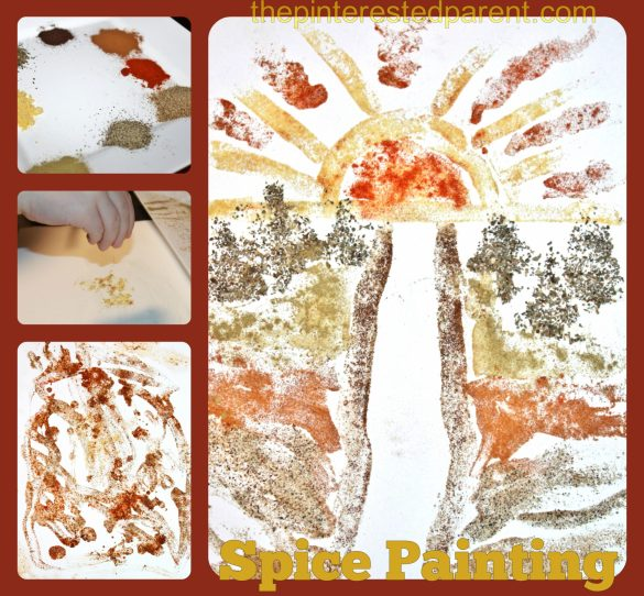 Expired Spices - _no problem. Use those spices for a little fun & messy art. Spice Painting for kids