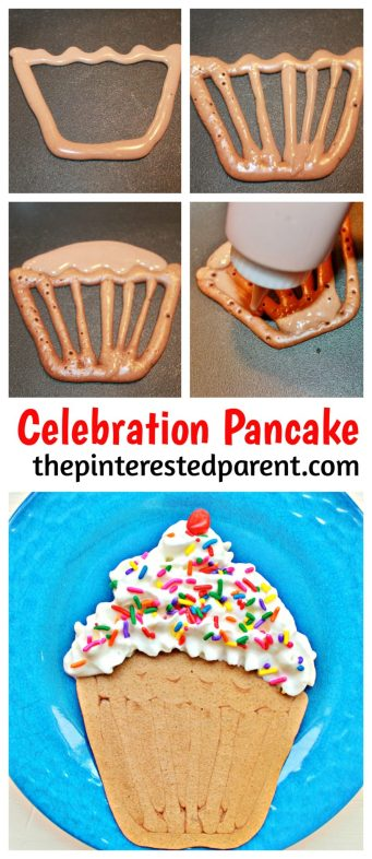 Cupcake shaped pancake. Fun breakfast for kids. This is a perfect for a birthday or special occasions.. Recipes & food