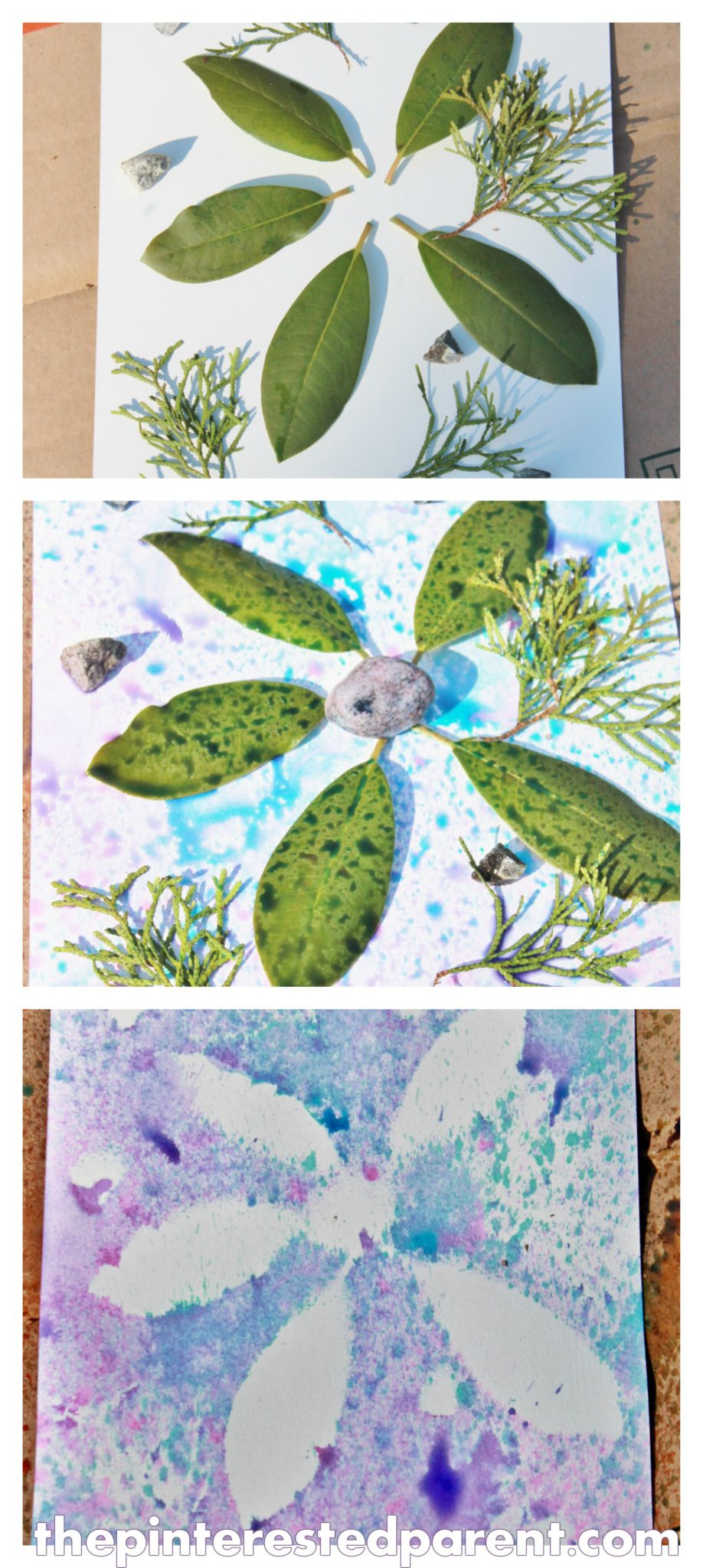 Nature Art for Kids :: 33 Nature Art Activities to Try |Nature Paintings For Children