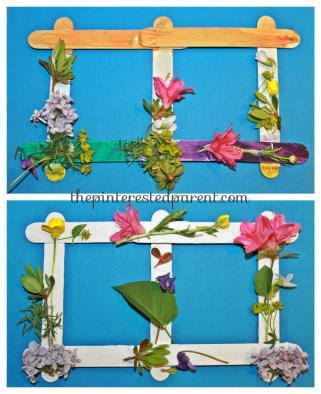 Popsicle stick nature craft for kids - pretty spring or summer arts & craft project..,