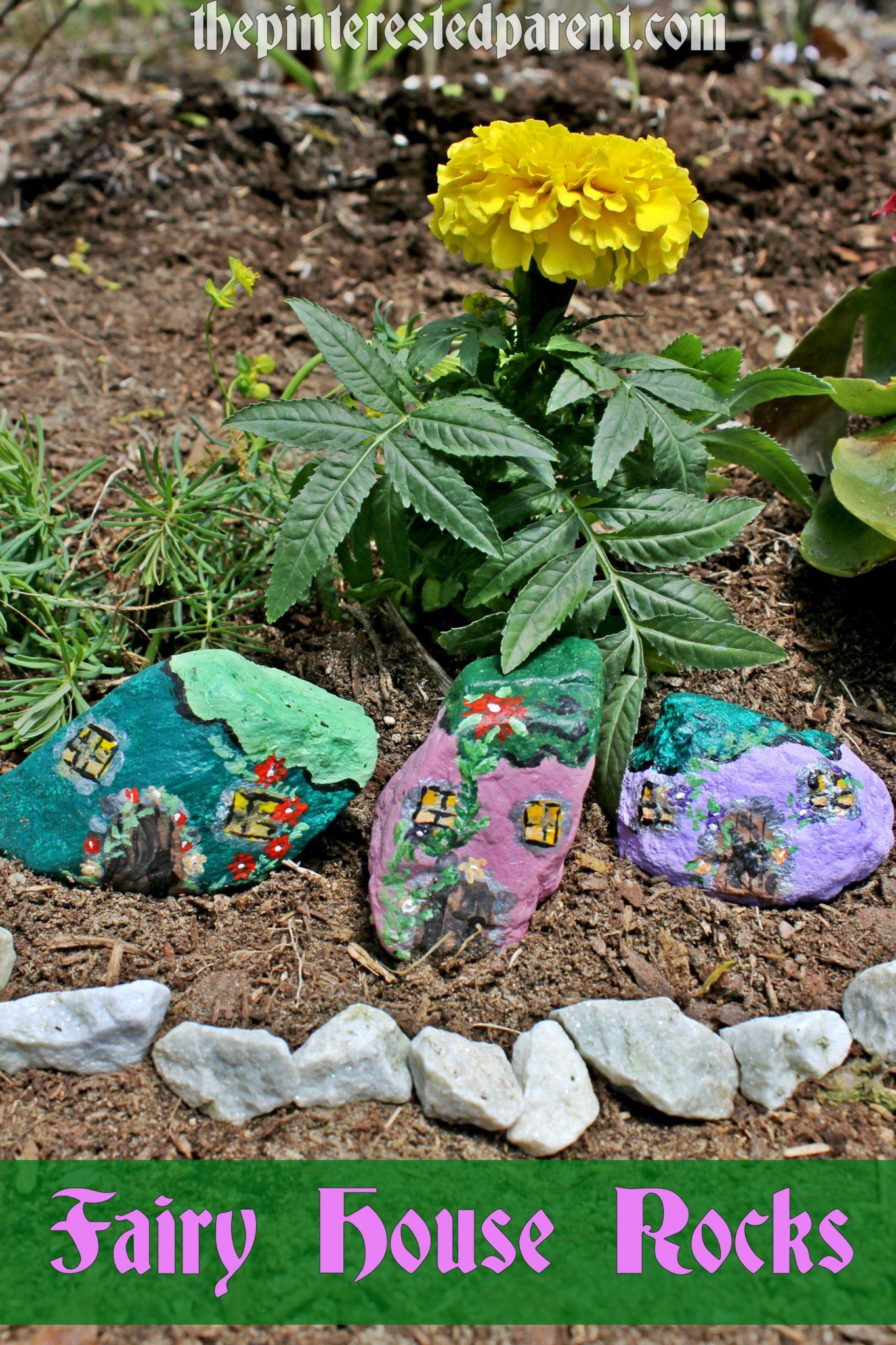 Painted Fairy Garden Rocks – The Pinterested Parent