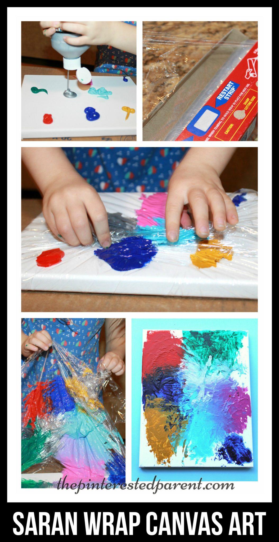 Saran Wrap Canvas Art The Pinterested Parent