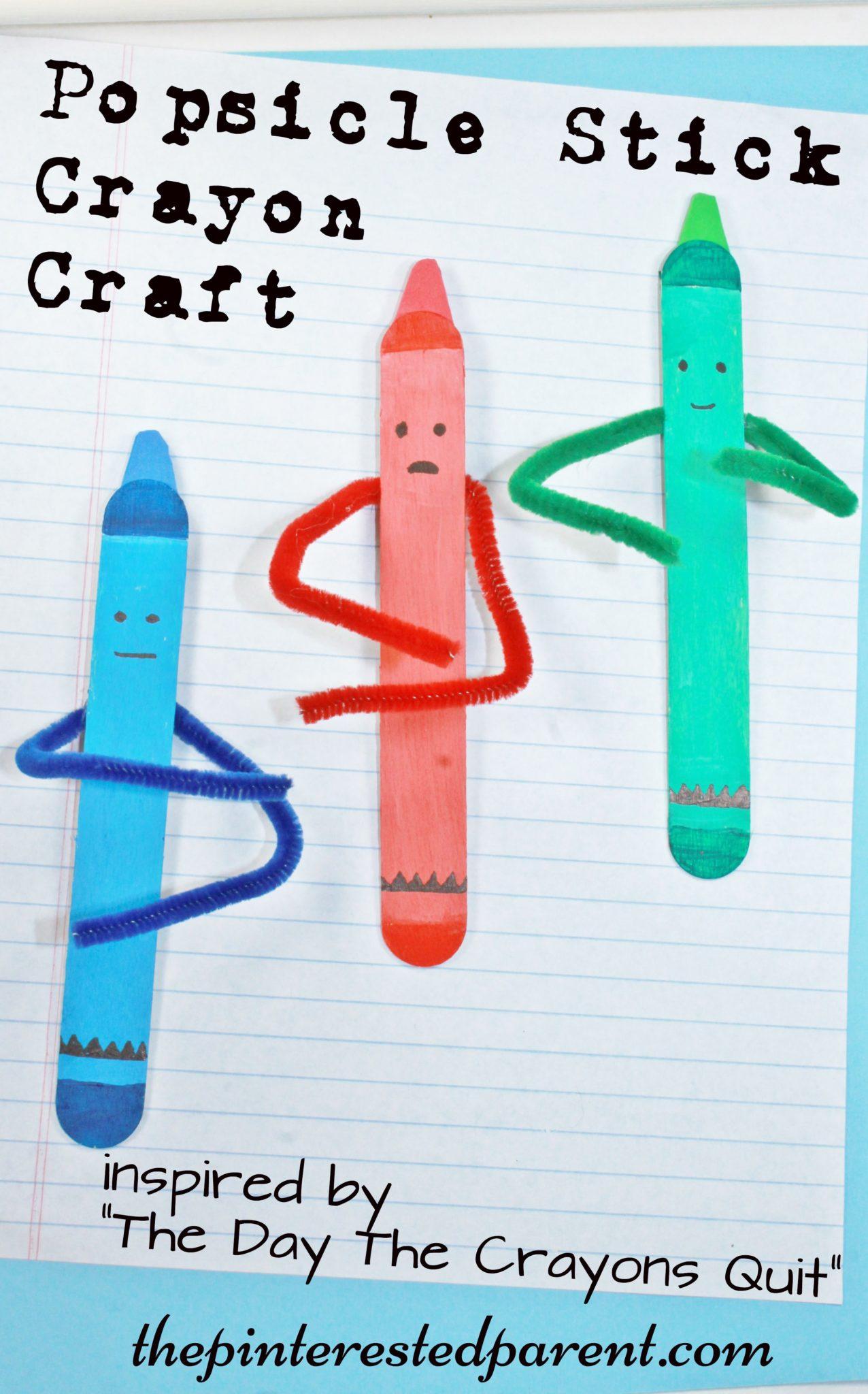 Craft Stick Crayon Craft The Pinterested Parent