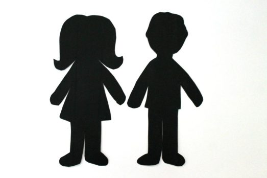 Chalkboard paper doll cutouts for kids - arts & crafts