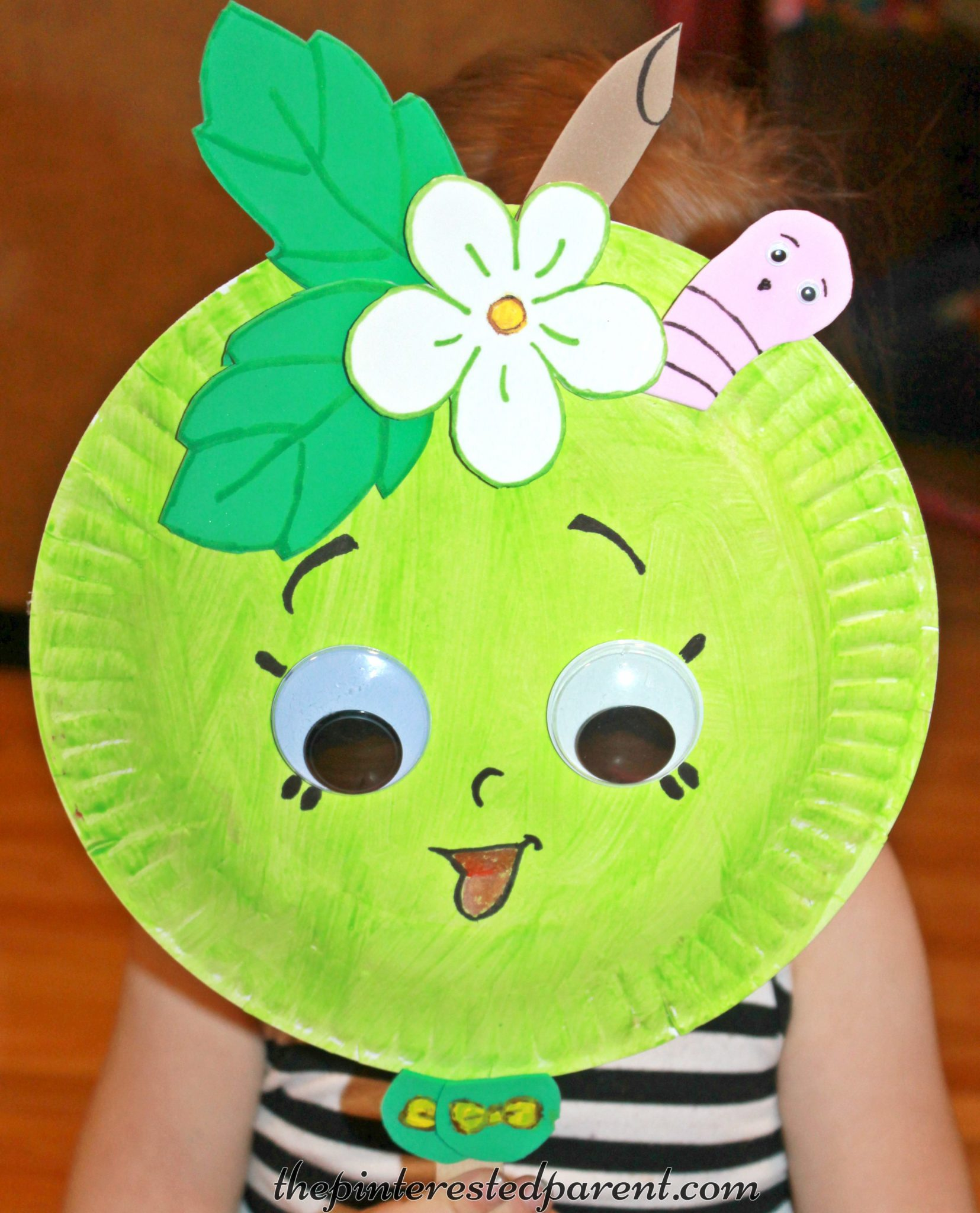 Shopkins Inspired Paper Plate Mask on Foam Animals Craft 2