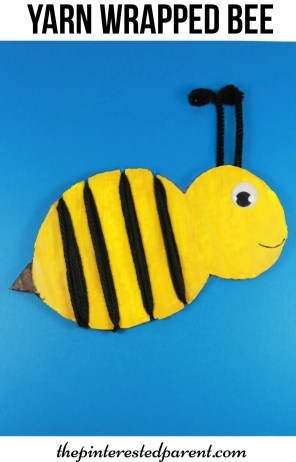 Yarn Wrapped bumble bee craft for the kids. a cute spring or summer craft & a great fine motor activity as well..