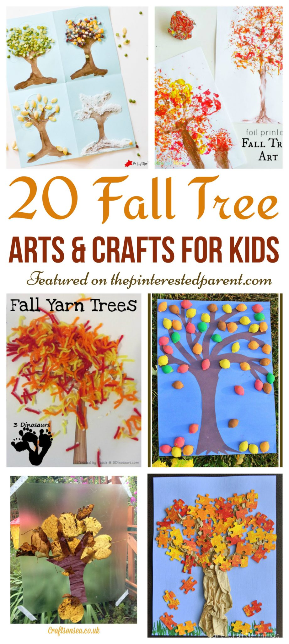 20 Fall Tree Arts Crafts Ideas For Kids The Pinterested