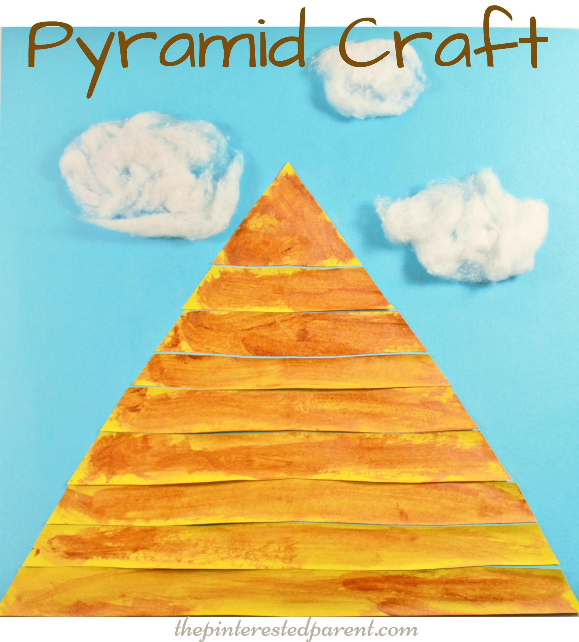 Egyptian pyramid craft the pinterested parent for Art and craft books for kids