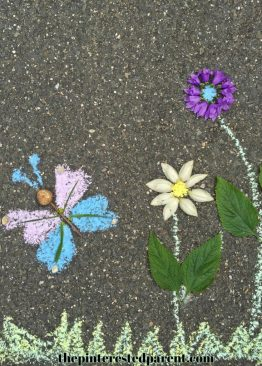 Land & Chalk Art - Nature and outdoor play for the kids - Summer arts & crafts and activities.