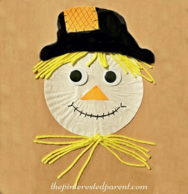 Cupcake Liner Scarecrow Craft - fall / autumn arts & crafts for kids