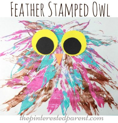feather stamped painted butterfly process arts & craft for the kids with a feather