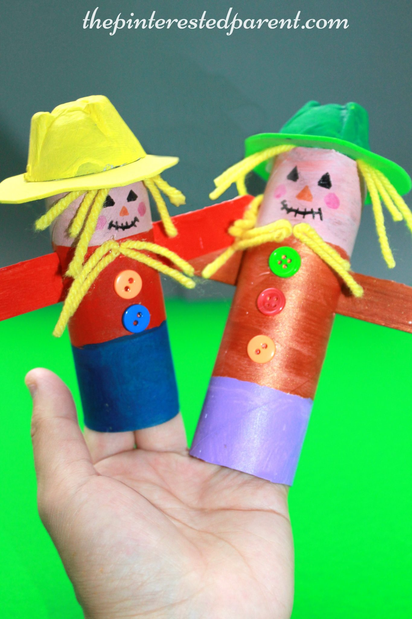 Toilet Paper Tube Scarecrows The Pinterested Parent