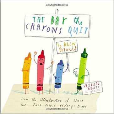 The Day The Crayons Quit by Drew Daywalt - funny books for preschoolers