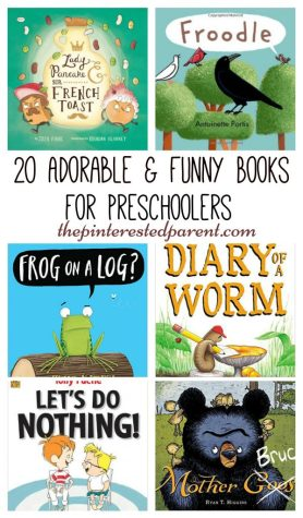 20 Cute and adorable books for preschoolers - funny books for kids to read and laugh.