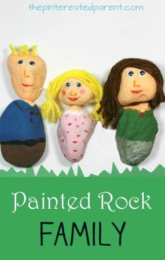 If your family rocks, let everyone know. Painted Rock Family - Paint your family or make mix and match people with simple canvases from nature. Arts and craft projects for kids