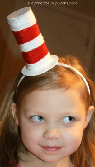 Toilet Paper Tube Dr Seuss Headband Hat Recycle Cardboard Rolls Wrap With Yarn For