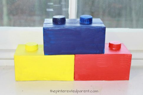 How to make Lego decorations for a Lego themed birthday party. Find Lego decor, food and activity ideas
