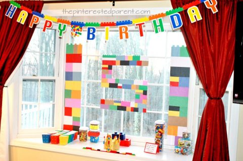 How to host a great Great Lego birthday party ideas for kids. decorations, food and activities. Kid's