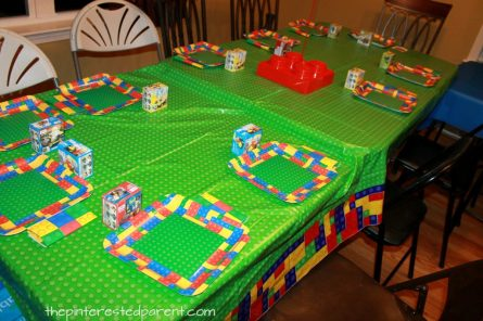 Lego themed birthday party ideas for kids