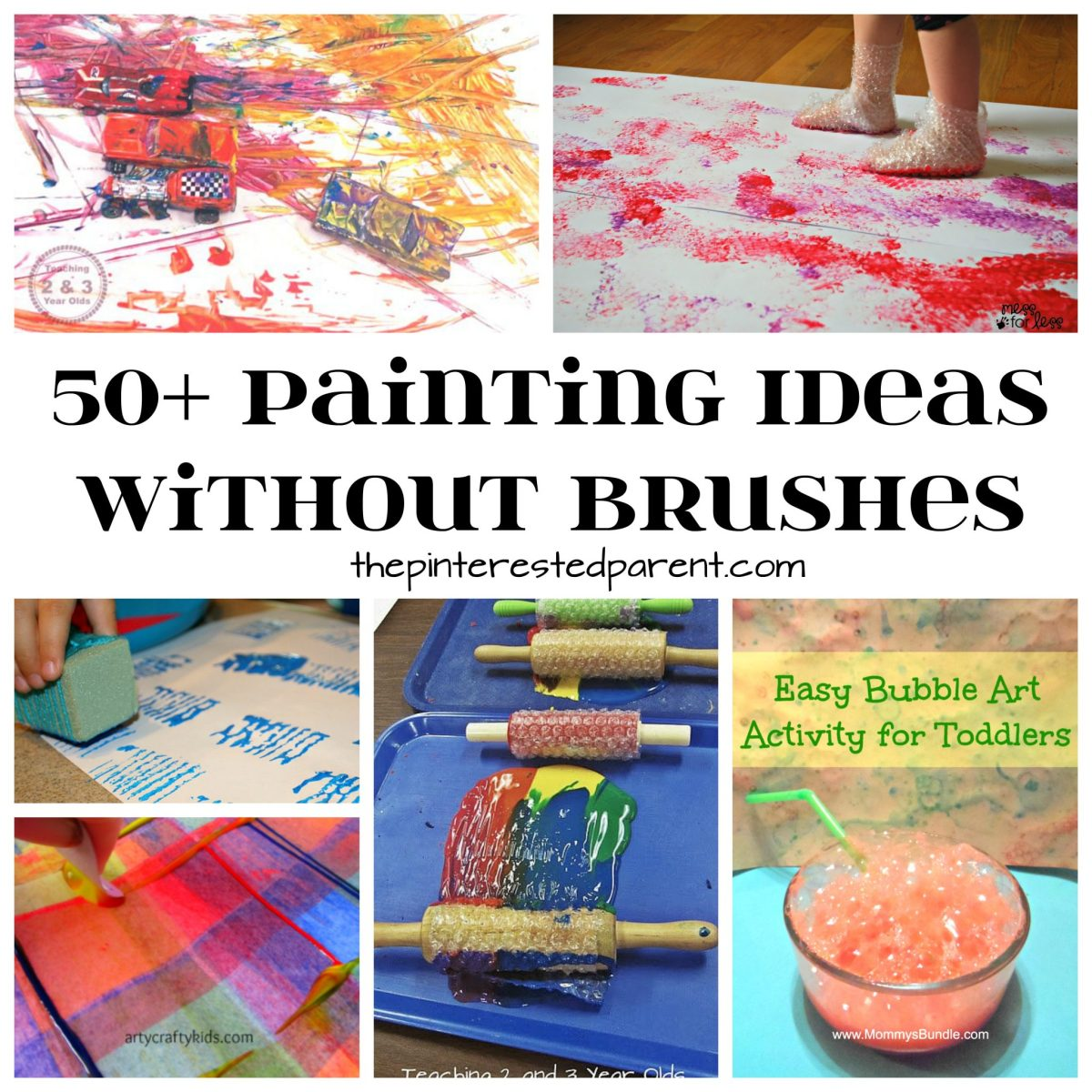 50+ Painting Without Brushes Ideas