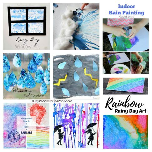 25 Rain Themed Arts Crafts And Activities For The Spring Kids