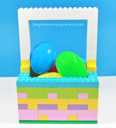 Lego Easter basket - a great gift idea or Lego build for the kids. Kid's arts and crafts