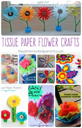 Awesome Tissue paper flower arts and crafts projects for kids.
