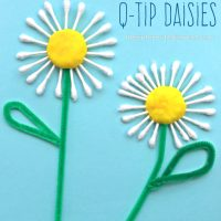 Q-Tip Daisy Craft
