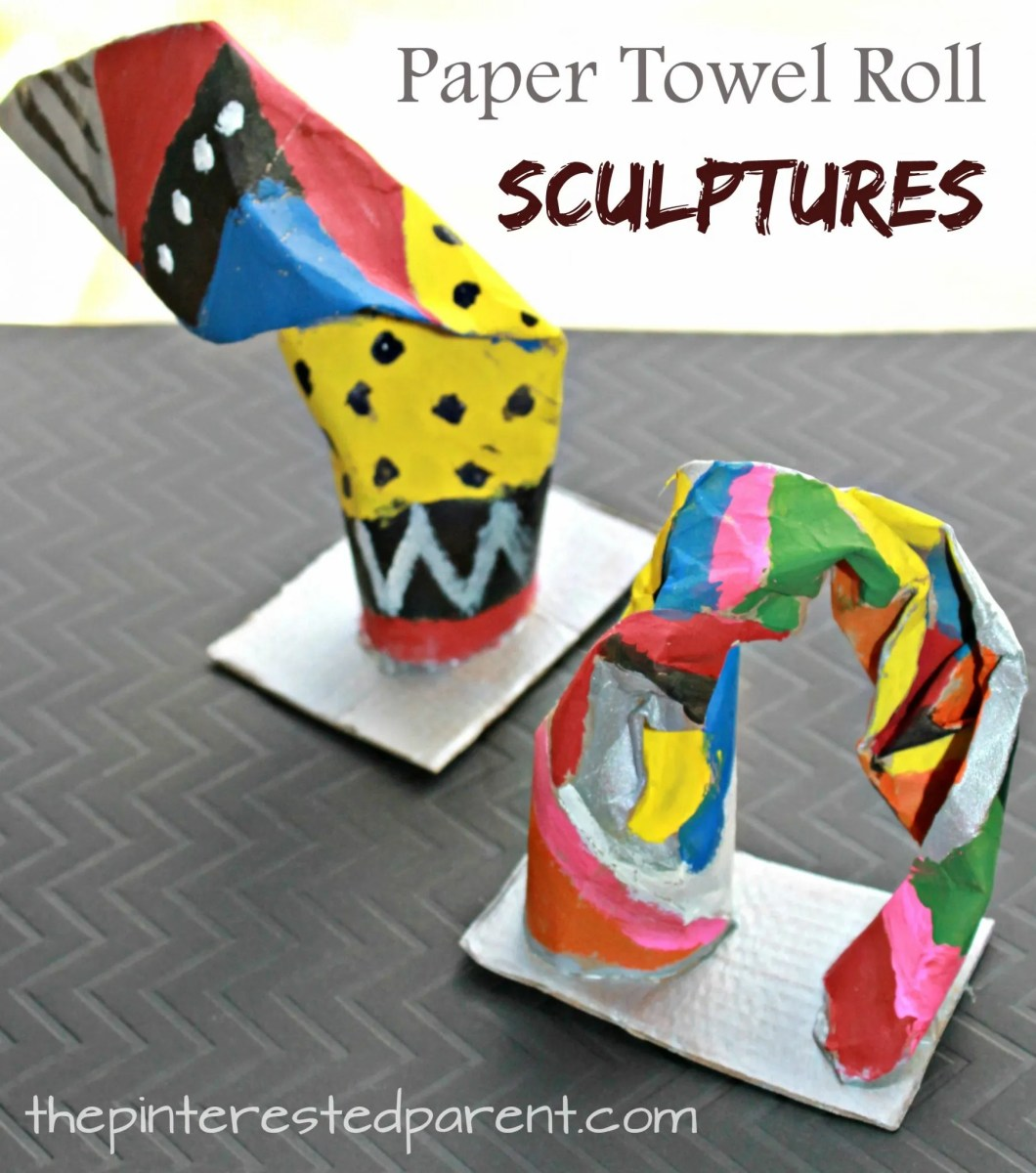 Paper Towel Roll Sculptures
