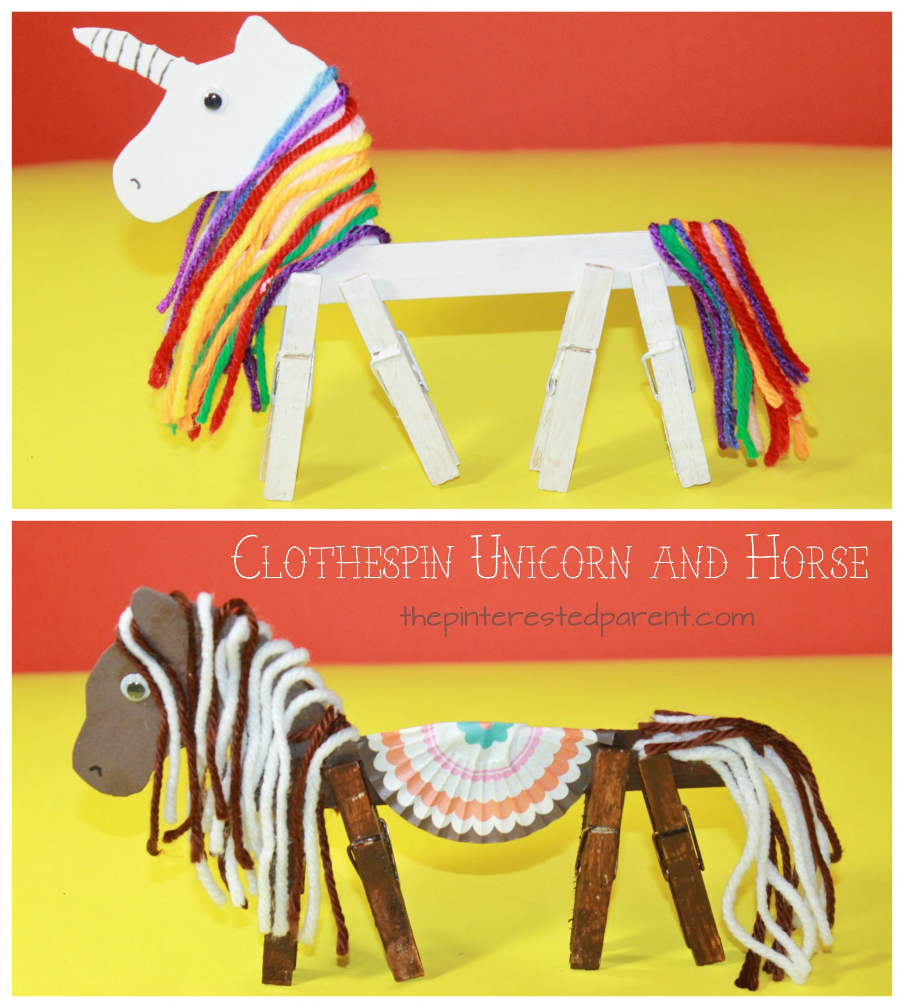 Clothespin Horse Unicorn – The Pinterested Parent
