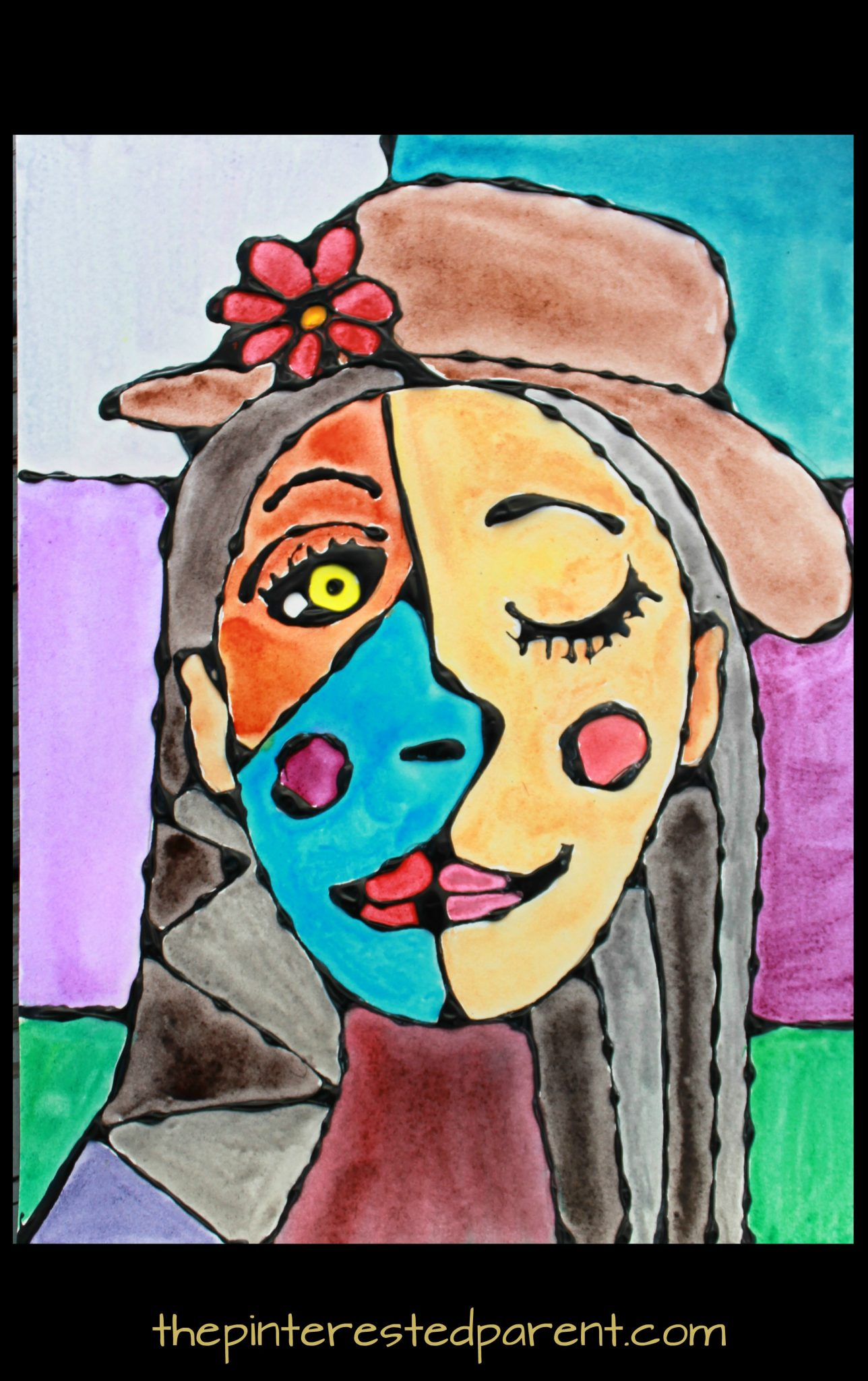 Black Glue and Watercolor Picasso Portraits – The ...