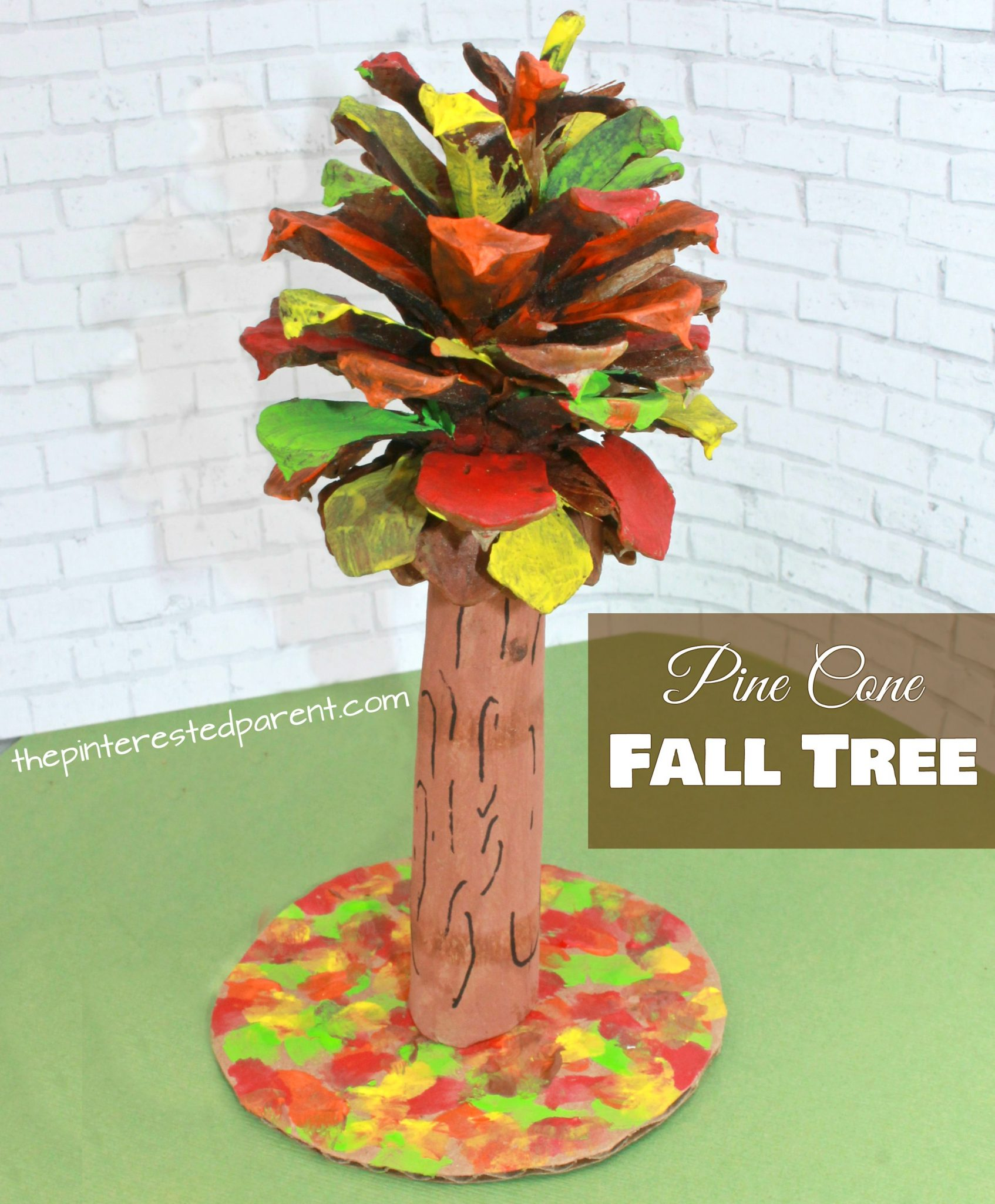 Pine Cone Fall Tree Craft The Pinterested Parent