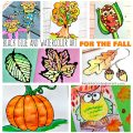 Beautiful black glue and watercolor art projects for the fall. Autumn arts and crafts for kids